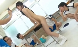 Cute japanese schoolgirl exhibitionist atomi shuri squirting & creampie