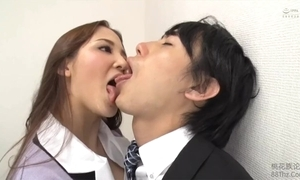 Tongue kissed wide of femdom berth daughter