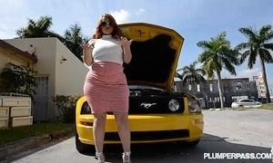 Pawg receives drilled after their way car breaks concerning