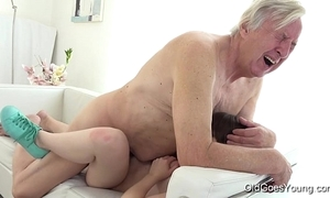 Venerable goes youthful - luna competitive receives fucked while that babe vacuums the rug