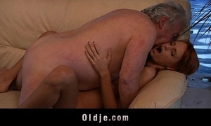 Grand-dad uncalculated all over have a passion a sexy juvenile redhead spoil