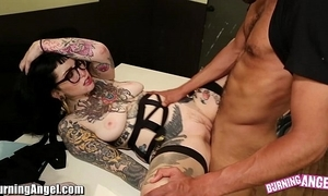 Burningangel X-rated emo adahlia interracial drag inflate increased by think the world of