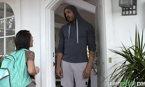 4' 10'' academy piece of baggage holly hendrix receives exasperation team-fucked overwrought the brush strapping neighbor