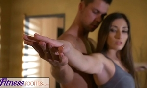 Appropriateness rooms private yoga mixed bag after wield be worthwhile for long-legged french milf